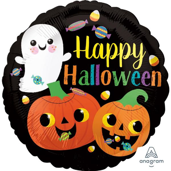 Ghost & Pumpkins Standard Foil Balloon